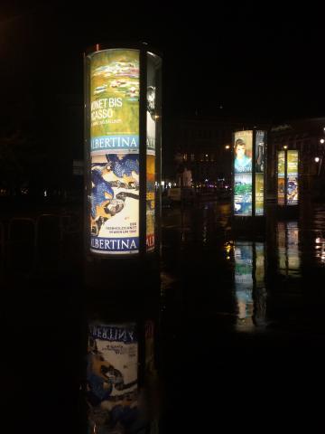 Citylight-Plakate für die Albertina auf Backlit-Folie
